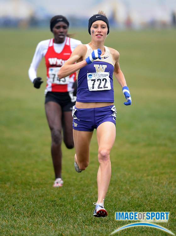 Nov 24, 2008; Terre Haute, IN, USA; Kendra Schaaf of Washington was 12th in the womens race in 20:17 in the NCAA cross country championships at the LaVern Gibson cross country course.