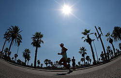 Anton Kosmac of Slovenia competes in the Mens Marathon during day six of the 20th European Athletics Championships at the roads of city Barcelona on August 1, 2010 in Barcelona, Spain. (Photo by Vid Ponikvar / Sportida)