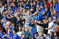 Leicester City fans chant - Photo mandatory by-line: Rogan Thomson/JMP - Mobile: 07966 386802 16/08/2014 - SPORT - FOOTBALL - Leicester - King Power Stadium - Leicester City v Everton - Barclays Premier League