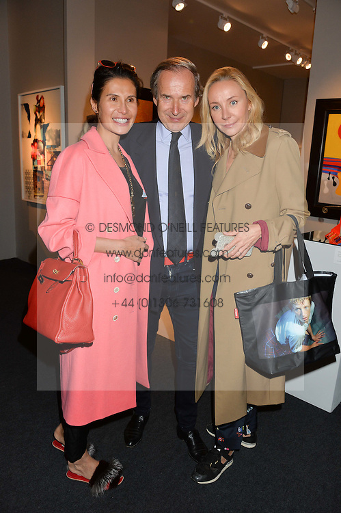 Left to right, GOGA ASHKENAZI and SIMON & MICHAELA DE PURY at the PAD London 10th Anniversary Collector's Preview, Berkeley Square, London on 3rd October 2016.