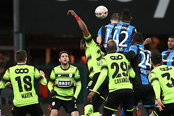 January 31, 2018 - Liege, BELGIUM - Club's Matej Mitrovic scores a goal during a soccer game between Standard de Liege and Club Brugge KV, the first leg of the Croky Cup 1/2 final, in Liege, Wednesday 31 January 2018. BELGA PHOTO VIRGINIE LEFOUR (Credit Image: © Virginie Lefour/Belga via ZUMA Press)