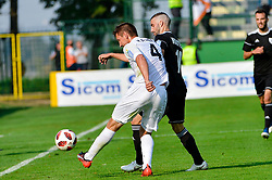 Nino Kouter of NS Mura vs David Kasnik of NK Rudar Velenje during football match between NS Mura and NK Rudar Velenje in 13th Round of Prva liga Telekom Slovenije 2018/19, on October 20, 2018 in Mestni stadion Fazanerija, Murska Sobota , Slovenia. Photo by Mario Horvat / Sportida