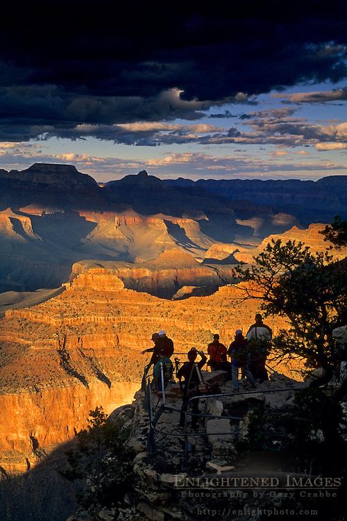 Sunset liight at the Grand Canyon, Yavapai Point, South Rim, Grand Canyon National Park, Arizona