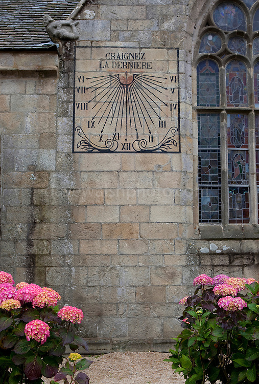 Sundial on the church of Notre Dame de Croaz Batz,  Roscoff, Brittany