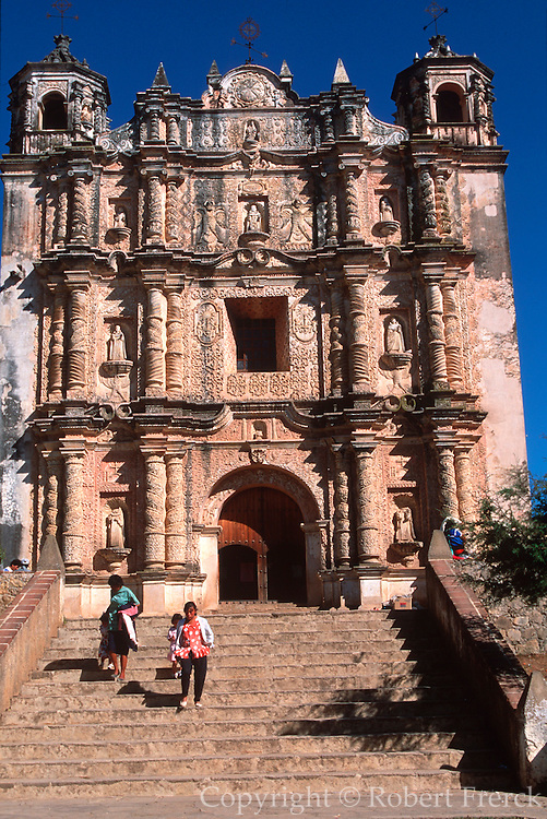 MEXICO, COLONIAL CITIES, CHIAPAS San Cristobal de las Casa, Santo Domingo Church c1547-1560, Baroque facade added in 17thC
