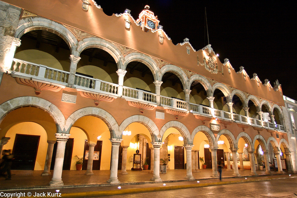 MERIDA YUCATAN MEXICO The City Hall Building In Historic Section Of Merida