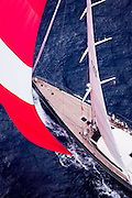 P2 sailing in the St. Barth's Bucket superyacht regatta, race 3.