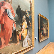 Paintings by Bonifazio de' Pitati (Bonifazio Veronese) (1487-1553) on display at the Royal Museums of Fine Arts in Belgium (in French, Musées royaux des Beaux-Arts de Belgique), one of the most famous museums in Belgium. The complex consists of several museums, including Ancient Art Museum (XV - XVII century), the Modern Art Museum (XIX  XX century), the Wiertz Museum, the Meunier Museum and the Museé Magritte Museum.