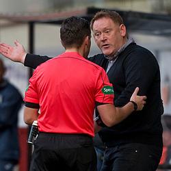 Dunfermline Athletic v Livingston SPFL Championship Season 2017/18 East End Park 20 October 2017<br />David Hopkin protests<br />CRAIG BROWN | sportPix.org.uk