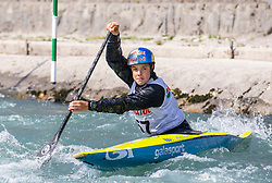 Gale Martin (KK Simon / Slovenia) during ICF Canoe Slalom Ranking Race Tacen 2018, on April 8, 2018 in Ljubljana, Slovenia. Photo by Urban Meglic / Sportida