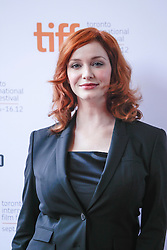 Actress CHRISTINA HENDRICKS  prior to the live reading of 'American Beauty', conducted by Jason Reitman at the 2012 Toronto International Film Festival. Hendricks wowed the sold out audience with her take on Carolyn Burnham, originally played by Annette Benning, Thursday September 6, 2012. Photo By Christopher Drost/i-Images