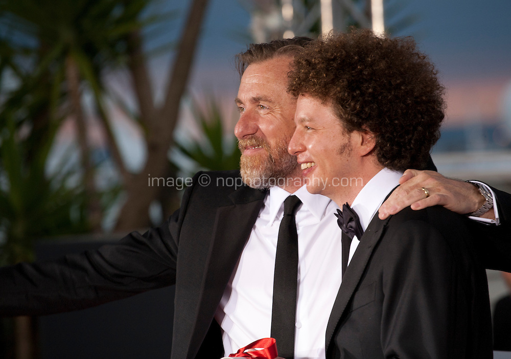 Director Michel Franco, winner of the Best Screenplay Prize for the film Chronic with actor Tim Roth at the Palm D'Or award winners photo call at the 68th Cannes Film Festival Sunday May 24th 2015, Cannes, France.