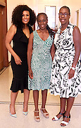 New York, NY-July 30: (L-R) Beverly Bond, Founder Black Girls Rock!New York City First Lady Chirlane McCray and Dean Avis Hinkson attend the Inaugural Black Girls LEAD Conference held at Barnard College at Columbia University on July 30, 2015 in New York City.  Terrence Jennings/Retna Ltd.
