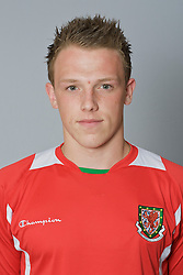 SWANSEA, WALES - Monday, March 30, 2009: Wales' Under-21 James Bloom. (Photo by David Rawcliffe/Propaganda)