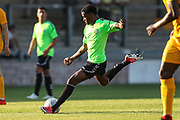 Forest Green Rovers Reece Brown(10) prepares to shoot during the Pre-Season Friendly match between Torquay United and Forest Green Rovers at Plainmoor, Torquay, England on 10 July 2018. Picture by Shane Healey.