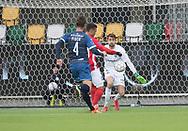 FODBOLD: Marc Rochester Sørensen (Silkeborg IF) scorer til 2-0 mod Adrian Kappenberger (FC Helsingør) under kampen i ALKA Superligaen mellem Silkeborg IF og FC Helsingør den 31. marts 2018 i Jysk Park, Silkeborg. Foto: Claus Birch.