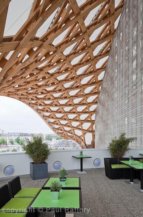 Centre Pompidou-Metz, museum of modern and contemporary art. Architects Shigeru Ban + Jean de Gastines