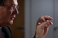 31 JUN 2007, BERLIN/GERMANY:<br /> Juergen Thumann, Praesident Bundesverband der Deutschen Industrie, BDI, und Vorsitzender des Gesellschafterausschusses der Heitkamp & Thumann Group, waehrend einem Interview, Haus der Wirtschaft<br /> IMAGE: 20070731-01-052<br /> KEYWORDS: Jürgen Thumann