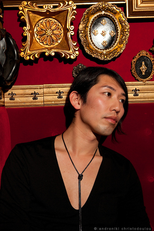 Takayuki Suzuki (31). He works as fashion PR Japanese fashion labels and once a week he works at bar PIANO in Shibuya, Tokyo, because he enjoys interesting people there.  Until some years ago he used to work as a model. He is interested in art and when he has enough free time he goes traveling abroad.