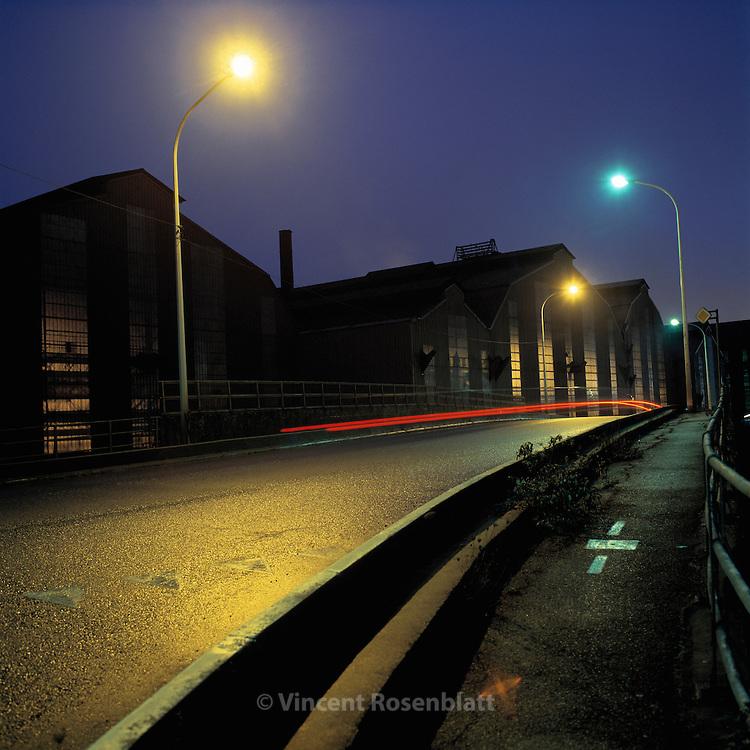 Zone industrielle, Charleroi, Belgique /<br /> Industrial zone, Charleroi, Belgium.