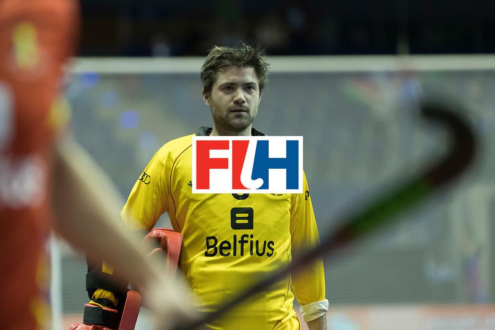 Hockey, Seizoen 2017-2018, 08-02-2018, Berlijn,  Max-Schmelling Halle, WK Zaalhockey 2018 MEN, Belgium - Russia 4-5, GUCASSOFF Jeremy (GK) (BEL). Worldsportpics copyright Willem Vernes