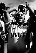 England Football Fans cheering at Wembley, London, U.K 1990's.