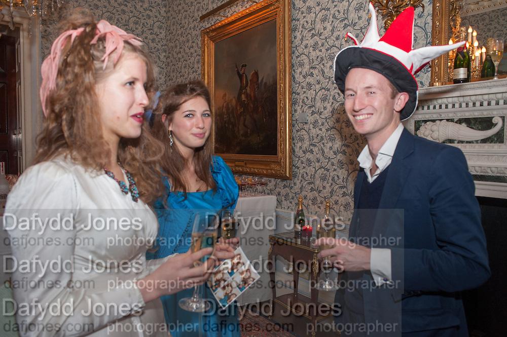 FREYA WOOD; SASHA GALITZINE; MATHEW BELL, Tatler magazine Jubilee party with Thomas Pink. The Ritz, Piccadilly. London. 2 May 2012