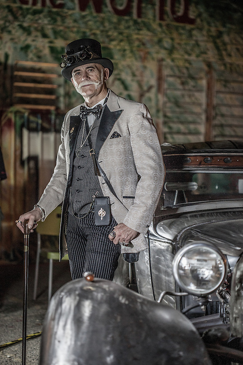 Steam Punk represented down town Las Vegas during First Friday