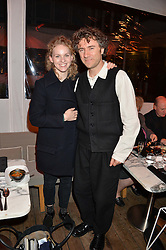 HATTIE GALLAGHER and THOMAS HEATHERWICK at the Liberatum Cultural Honour For Sir Terence Conran Dinner held at the Sanderson Hotel, Berners Street, London on 19th November 2013.