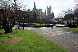 UK ENGLAND LONDON 25MAR17 - Front grounds of Parliament were PC Keith Palmer was fatally stabbed during  Wednesday's terror attack. Four people were killed after the assailant, Khalid Masood mowed down pedestrians on Westminster Bridge and crashed into parliament's gates.<br /> <br /> <br /> jre/Photo by Jiri Rezac<br /> <br /> © Jiri Rezac 2017