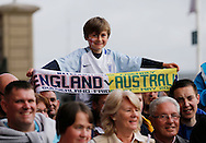 England fans prior to the International Friendly match at the Stadium Of Light, Sunderland<br /> Picture by Simon Moore/Focus Images Ltd 07807 671782<br /> 27/05/2016