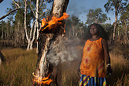 MATA MATA HOMELAND, NORTHERN TERRITORY: Batumbil Burarrwanga manages her homelands with fire. &quot;Fire is my totem. I am fire. It is deep down inside me. Fire is my talent, my voice. When I talk my voice is the flame, through the flame is my power.&quot; _________________________________<br />