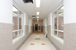 Hanover Elementary School - Kindergarten Addition<br /> James R Anderson Photographer | photog.com 203-281-0717<br /> Andrade Architects, LLC. Enfield Builders, Inc.<br /> Photography Date: 9 October 2012<br /> Camera View: Link looking West from Entrance to Main Bldg<br /> Image Number 22