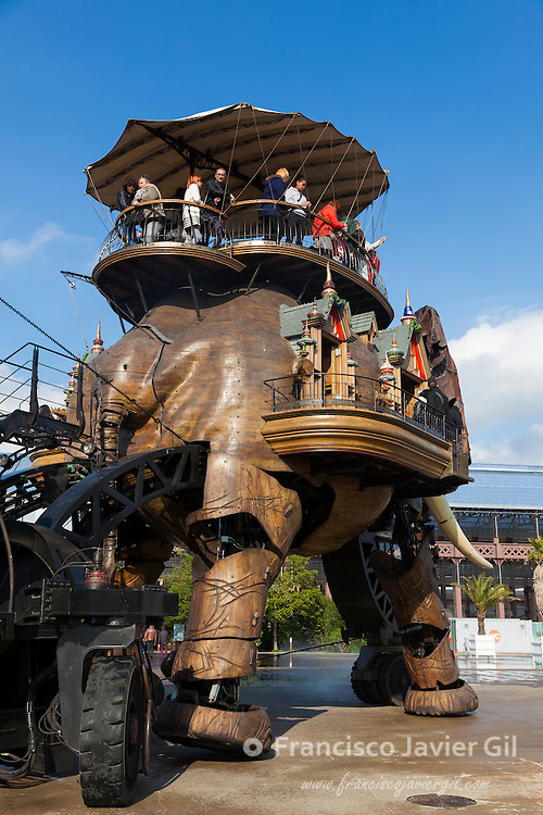 Elephant of the Galerie des machines, Nantes, Pays de la Loire, France