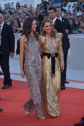 Natalie Portman, Stacy Martin attending the Vox Lux premiere during the 75th Venice Film Festival