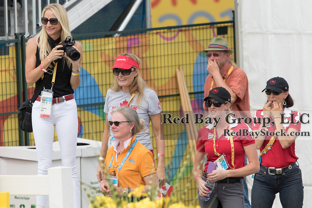 Fans and family of Christopher von Martels (CAN) and Zilverstar at the OLG Caledon Pan Am Equestrian Park during the Toronto 2015 Pan American Games in Caledon, Ontario, Canada.
