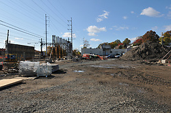 North Site Overview, Bridge Piers and Abutment in distance. Construction Progress Railroad Station Fairfield Metro Center - Site visit 4.