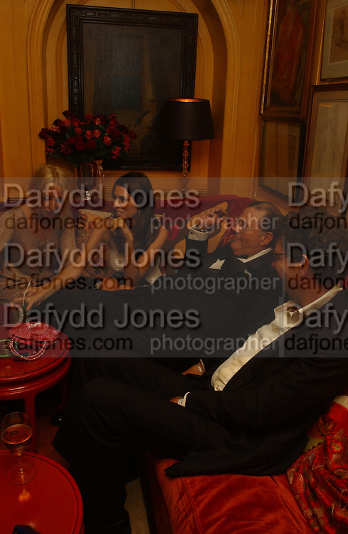 Marina Hanbury, David Ker,  Lady Sophia Hesketh, Party given by Taki and Alexandra Theodorakopoulos. Annabels. London. 26 September 2006. -DO NOT ARCHIVE-© Copyright Photograph by Dafydd Jones 66 Stockwell Park Rd. London SW9 0DA Tel 020 7733 0108 www.dafjones.com