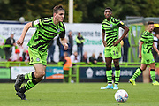 Forest Green Rovers Liam Kitching(20) runs forward during the EFL Sky Bet League 2 match between Forest Green Rovers and Crawley Town at the New Lawn, Forest Green, United Kingdom on 5 October 2019.