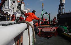 NETHERLANDS AMSTERDAM 11MAY11 - Bosun Thereapii Williams of New Zealand at work aboard the Arctic Sunrise......Photo by Jiri Rezac / Greenpeace