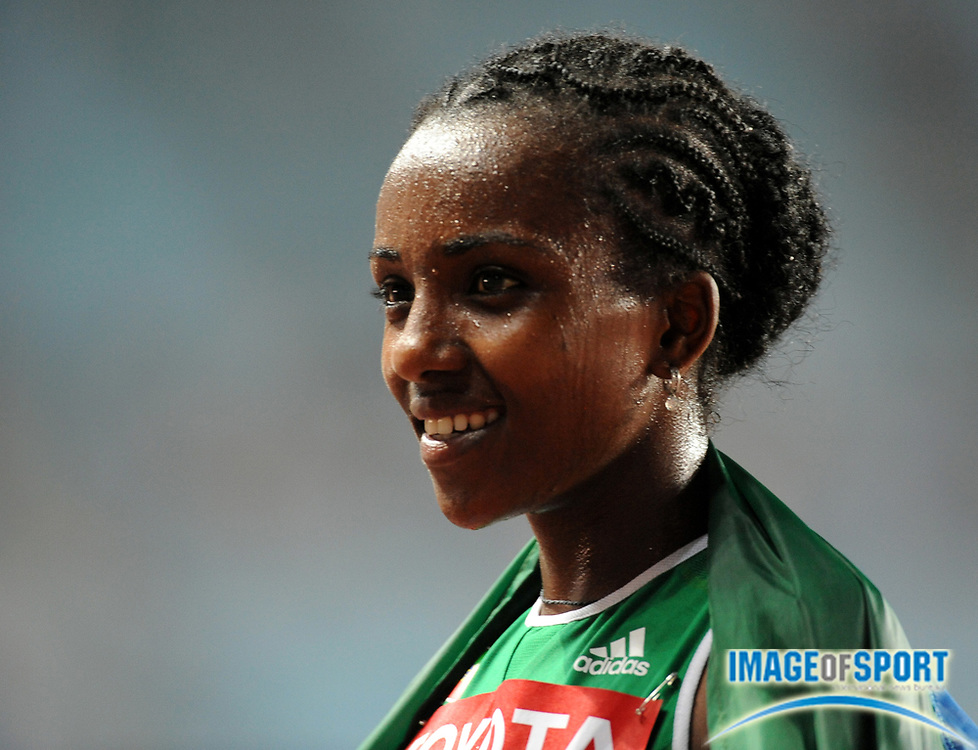 Aug 25, 2007; Osaka, JAPAN; Tirunesh Dibaba (ETH), winner of the womens 10,000m in 31:55.41 in the 11th IAAF World Championships at Nagai Stadium. Mandatory Credit: Kirby Lee/Image of Sport-US PRESSWIRE