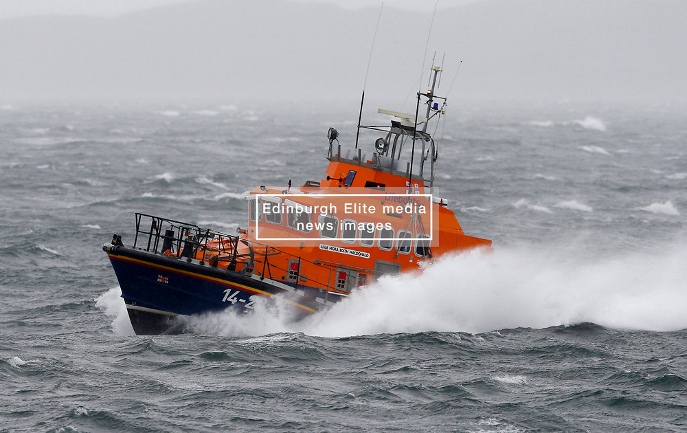 "Oban's RNLB Mora Edith MacDonald was on a ""shout"" as Storm Ali battered the west coast of Scotland........ (c) Stephen Lawson 