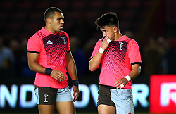 Marcus Smith of Harlequins and Joe Marchant of Harlequins - Mandatory by-line: Robbie Stephenson/JMP - 06/10/2017 - RUGBY - Twickenham Stoop - London, England - Harlequins v Sale Sharks - Aviva Premiership