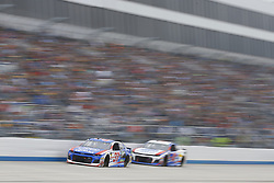 May 6, 2018 - Dover, Delaware, United States of America - Chris Buescher (37) brings his race car down the front stretch during the AAA 400 Drive for Autism at Dover International Speedway in Dover, Delaware. (Credit Image: © Chris Owens Asp Inc/ASP via ZUMA Wire)