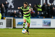 Forest Green Rovers Rob Sinclair(19) runs forward during the Vanarama National League match between Macclesfield Town and Forest Green Rovers at Moss Rose, Macclesfield, United Kingdom on 12 November 2016. Photo by Shane Healey.