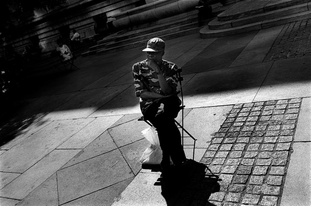New York, New York. 2005..Bryant Park and New York City Central Library...I See A Darkness, '05. An Essay on Individuality and Loneliness in the Big City.