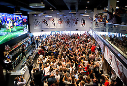 Fans celebrate Daniel Sturridge's late winning goal for England against Wales in The Sports Bar and Grill Ashton Gate - Mandatory by-line: Robbie Stephenson/JMP - 16/06/2016 - FOOTBALL - Ashton Gate - Bristol, United Kingdom  - England vs Wales - UEFA Euro 2016