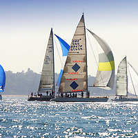 Fleet, Nomansland Fort, Round the island Race, 2005, Cowes, Isle of Wight, England,