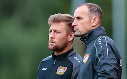 27.07.2017, Alois Latini Stadion, Zell am See, AUT, Testspiel, Bayer 04 Leverkusen vs Antalyaspor, im Bild Co Trainer Nico Schneck (Bayer04 Leverkusen), Trainer Heiko Herrlich (Bayer04 Leverkusen) // during the Friendly Football Match between Bayer 04 Leverkusen and Antalyaspor at the Alois Latini Stadion, Zell am See, Austria on 2017/07/27. EXPA Pictures © 2017, PhotoCredit: EXPA/ JFK
