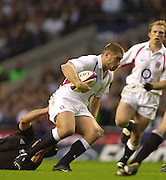 Richmond/Twickenham, England, Autumn International, and All Blacks Trianing at Old Deer Park. <br /> 09/11/2002<br /> International Rugby England vs New Zealand<br /> Ben Cohen.       [Mandatory Credit:Peter SPURRIER/Intersport Images]